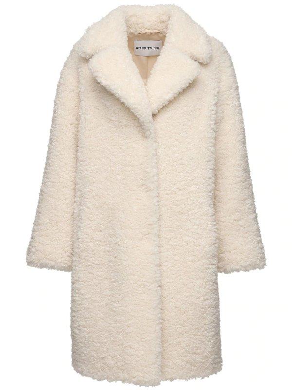 羊羔毛长款外套