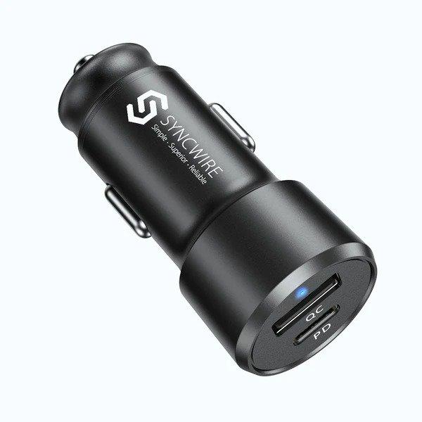 SyncwireUSB-C +USB-A 双接口 车载快充器