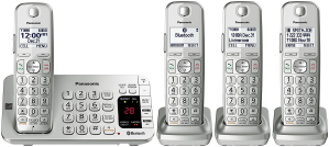 Today Only:$72Panasonic KX-TGE474S Link2Cell Bluetooth Cordless Phone with Answering Machine- 4 Handsets @ Amazon.com