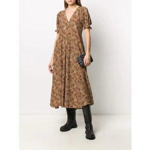 印花连衣裙