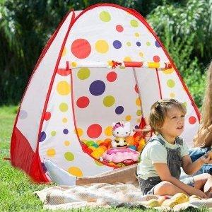 $19.99 (原价$31.99)KINDEN 儿童波点帐篷,带宝宝野餐、露营必备