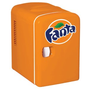 Fanta Personal 6 Can Mini Fridge with Warming