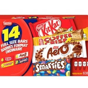 $10.97(原价$15.99) 683gNestle 混合甜食盒14条 无法拒绝的香浓巧克力 给自己一点甜