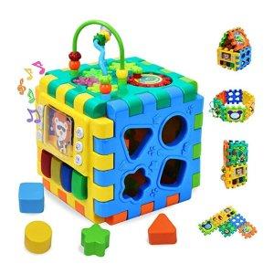 Forstart Activity Cube, 6 in 1 Multipurpose Play Center for Kids