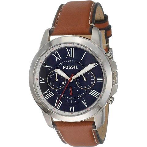 低至4.7折 £56收Fossil手表Amazon 手表专场超值好促 Fossil、Armani、Diesel都参加