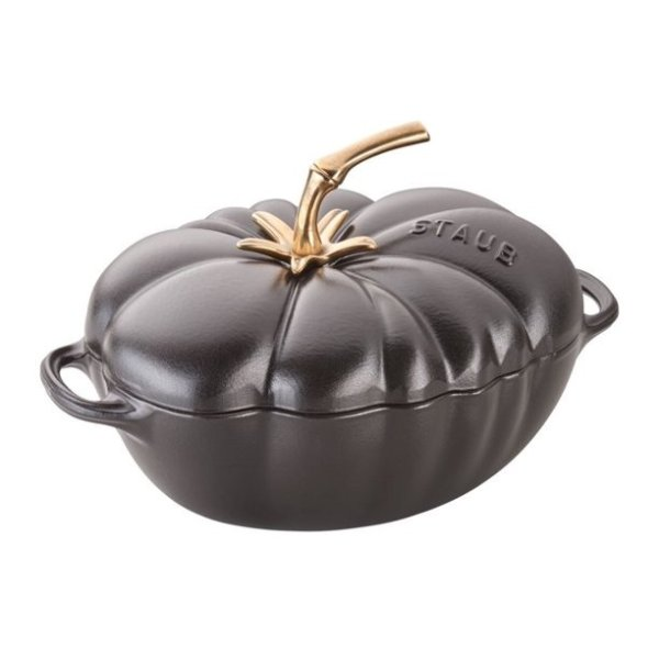 Staub 3夸脱番茄造型铸铁锅 黑色款