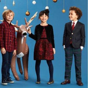 低至4.5折 S-XL码数全Brooks Brothers 儿童长裤、衬衫、裙装等优惠