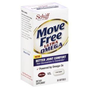 Schiff Move Free Ultra Omega Softgels, 30 Ct