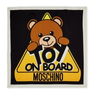 低至2折,小熊围巾$29.99Moschino, Versace 等大牌围巾热卖