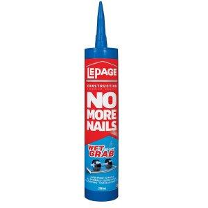 $5.47(原价$13.47)LePage no more nails 建筑粘合剂 可用于湿表面 266ml