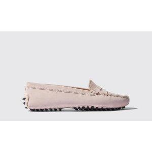 粉色豆豆鞋