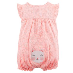 10cea874a8b Carter sKitty Snap-Up Cotton Romper