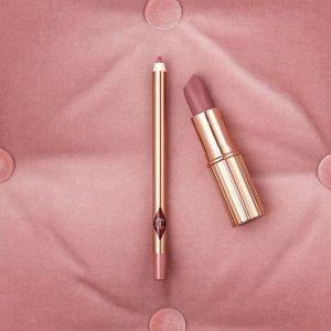 满额送正装唇线笔(价值$22)限今天:Charlotte Tilbury 全场美妆护肤品热卖 收新款高光盘