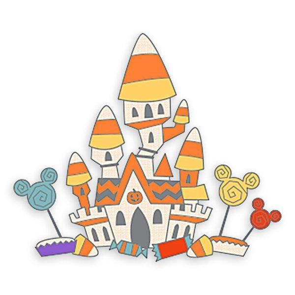 Candy Corn Castle Halloween 别针