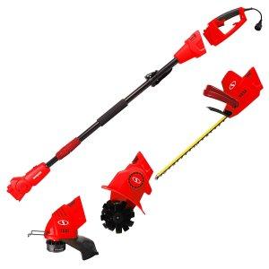 Sun Joe GTS4000E Lawn + Garden Multi-Tool Care System, Red REFURBISHED