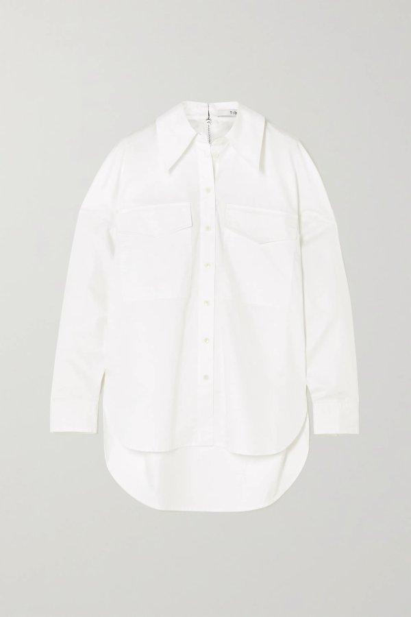 Zip-embellished 衬衣