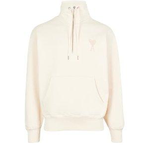 Ami Paris20% off $500Ami de Coeur sweatshirt with zipped collar