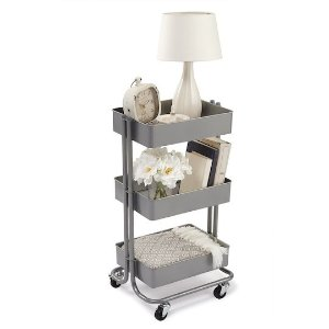 RecollectionsGray Lexington 3-Tier Rolling Cart By Recollections™