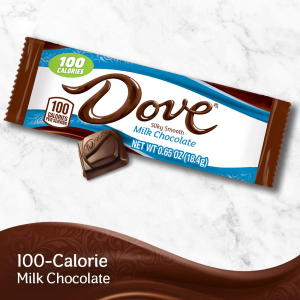 $4.5 + Free ShippingDOVE 100 Calories Milk Chocolate Candy Bar 18-Count