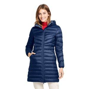 Lands' EndWomen's Ultralight Packable Long Down Coat