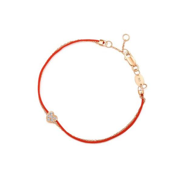 小爱心钻石小红绳