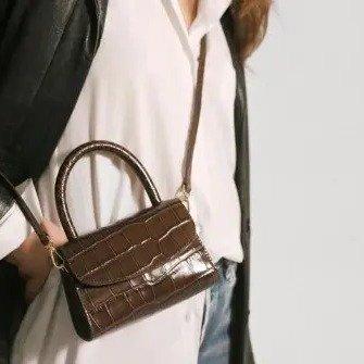 鳄鱼纹手提包