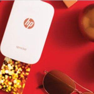 满$200立减$50HP 官网闪购  收HP Sprocket手机照片打印机