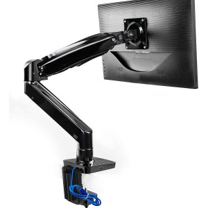 HUANUO Long Single Monitor Desk Mount for 22 to 35 Inch
