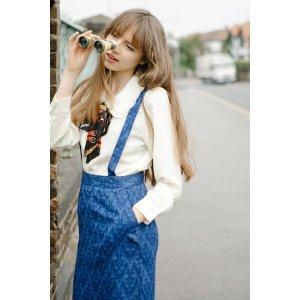 miss patina背带短裙
