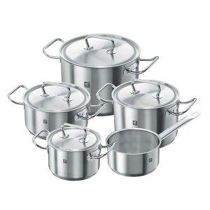 ZWILLING 双立人煮锅5件套带4个锅盖 3.9折特价