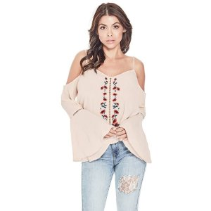 GuessNixie Cold-Shoulder Top at Guess