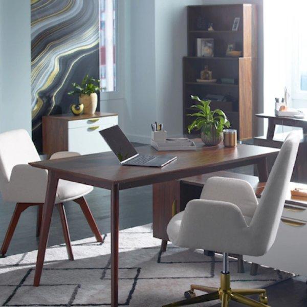 Union&Scale 咖啡色书桌 48英寸