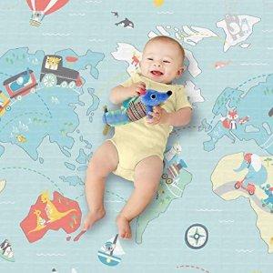 低至$11.99Skip Hop 宝宝双面防水爬行垫、安抚玩具特卖