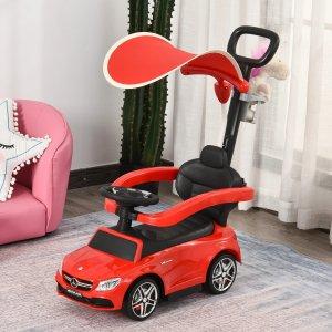奔驰3合一婴儿滑行车 带顶棚