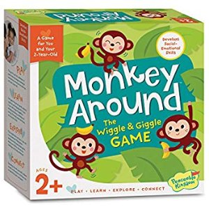 Amazon.com: Peaceable Kingdom Monkey Around - The Wiggle & Giggle Game of Movement for 2-Year-Olds: Toys & Games