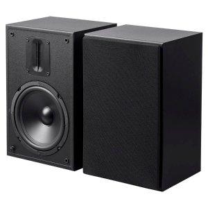 $39.99Monoprice MP-65RT 6.5in and Ribbon Tweeter 2-Way Bookshelf Speakers (Pair), Black