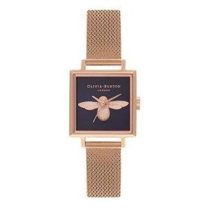 Olivia Burton方型小蜜蜂复古手表