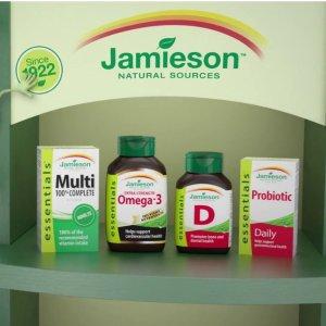 低至7.5折起+满$40减$10超后一天:Jamieson 健美生营养保健品特卖会,加拿大口碑超好的保健品哦