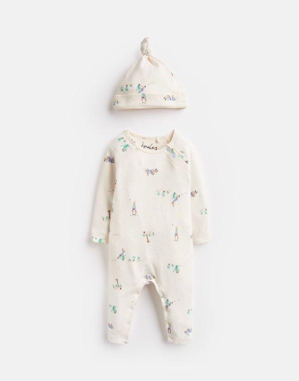 婴儿 彼得兔 超柔连体衣+帽子
