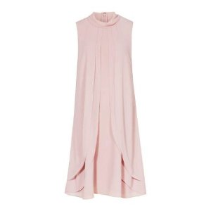 Reiss脏粉色荷叶边连衣裙