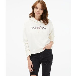 Aeropostale15% off $75Embroidered Butterflies Pullover Hoodie***