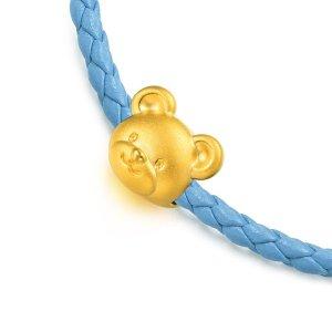价格显示为HK$港币 约为AU$222「可愛系列」足金小熊串飾