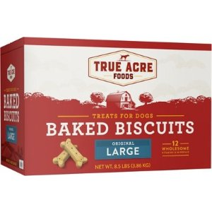 True Acre FoodsLarge Original Baked Biscuits Dog Treats, 8.5-lb box - Chewy.com