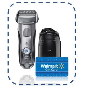 BraunFree $25 Gift Card with Braun Series 7 790cc Men's Electric Foil Shaver, Rechargeable and Cordless Razor with Clean & Charge Station.