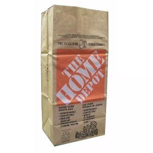 The Home Depot防潮 可堆肥 装树叶等牛皮纸树叶袋子 5个装