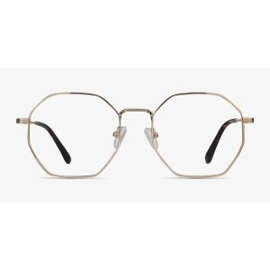 EyeBuyDirectOctave - Square Golden Frame Eyeglasses | EyeBuyDirect