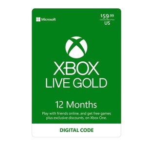 $59.99Xbox Live Gold 1年份会员, 趁没涨价赶紧屯