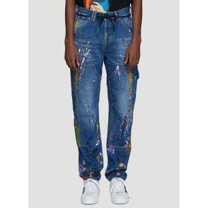 Off-WhiteCarpenter Splatter Jeans in Blue