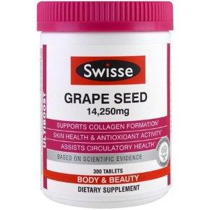 Swisse - Ultiboost, Grape Seed, 14,250 mg, 300 Tablets - Walmart.com