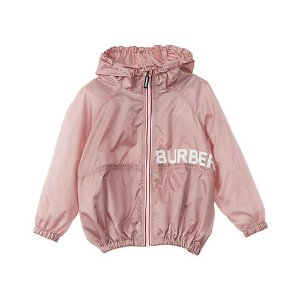 BurberryBurberry Logo Print Perforated Hooded Jacket